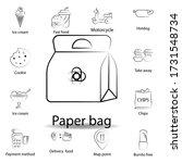 fast food paper bag outline...