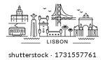 city of lisbon in outline style ... | Shutterstock .eps vector #1731557761
