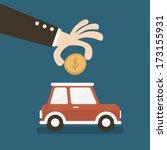car shaped piggy bank | Shutterstock .eps vector #173155931