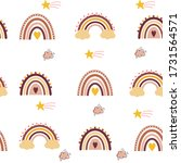 cute rainbow boho style pattern | Shutterstock .eps vector #1731564571