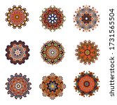 mandala. vintage decorative... | Shutterstock . vector #1731565504