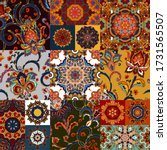 seamless colorful patchwork... | Shutterstock . vector #1731565507