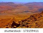 Ramon Crater In Negev Desert...