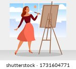 vector illustration. young... | Shutterstock .eps vector #1731604771