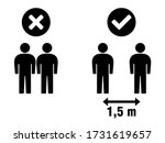 social distancing keep your... | Shutterstock .eps vector #1731619657