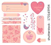 valentine's day set of design... | Shutterstock .eps vector #173165954