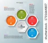 vector abstract 3d paper... | Shutterstock .eps vector #1731664807