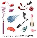 collection of various make up... | Shutterstock . vector #173168579
