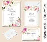beautiful floral frame wedding... | Shutterstock .eps vector #1731694321