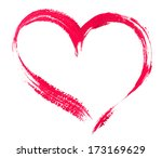 watercolor heart isolated on... | Shutterstock . vector #173169629
