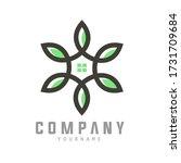 green home flower consept... | Shutterstock .eps vector #1731709684