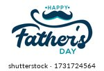 happy fathers day lettering... | Shutterstock .eps vector #1731724564