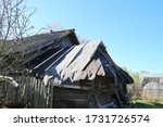 Old Shed Roof In Spring In The...