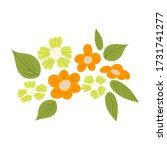 blooming flowers and leaves... | Shutterstock .eps vector #1731741277