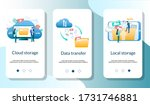 cloud and local storage  data...