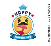 happy father's day with yellow... | Shutterstock .eps vector #1731769081