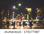 blurred city and people urban...   Shutterstock . vector #173177387