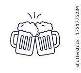 two beer clink vector... | Shutterstock .eps vector #1731775234