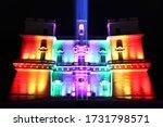 selmun palace malta by night    Shutterstock . vector #1731798571