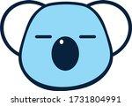 vector illustration cute masker ... | Shutterstock .eps vector #1731804991