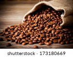 The Sack Of Coffee Beans On...