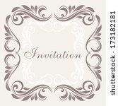 wedding invitation card. | Shutterstock .eps vector #173182181