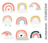Set Of Cute Rainbows. Cliparts...