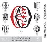 Vintage Monograms EO EM EW EP EQ EN EO
