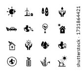 green energy icons set....