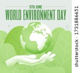 world environment day 5th june... | Shutterstock .eps vector #1731886651