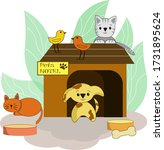 Hotel For Pets. Vector...