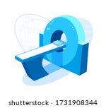 cat  mri scanner. ct scan... | Shutterstock .eps vector #1731908344