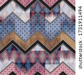 Abstract Patchwork Pattern On...