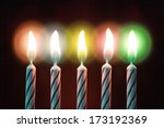 Five Candles On Birthday