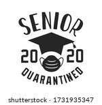 seniors class of 2020 lettering ... | Shutterstock .eps vector #1731935347