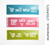 paper labels  tags  stickers.... | Shutterstock .eps vector #173194571