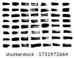 vector set grunge brush stroke... | Shutterstock .eps vector #1731972664