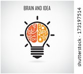 creative brain idea concept... | Shutterstock .eps vector #173197514