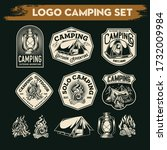 camping and hiking logo design  ... | Shutterstock .eps vector #1732009984