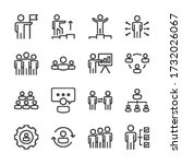 business people line icons set... | Shutterstock .eps vector #1732026067