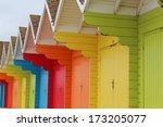 Summer Beach Huts  England.