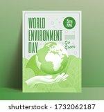 world environment day poster... | Shutterstock .eps vector #1732062187