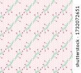 pink delicate wildflowers... | Shutterstock .eps vector #1732072651