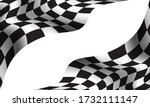 checkered flag wave on white... | Shutterstock .eps vector #1732111147