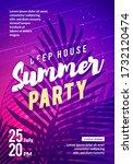 vector illustration summer... | Shutterstock .eps vector #1732120474