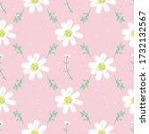 daisies grid seamless vector... | Shutterstock .eps vector #1732132567
