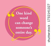 one kind word can change... | Shutterstock .eps vector #1732141327