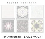 set of the halftone geometric... | Shutterstock .eps vector #1732179724