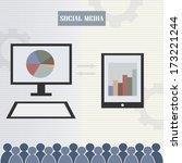 social media stylish...   Shutterstock .eps vector #173221244