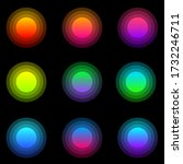Colourful Button Icon Set With...